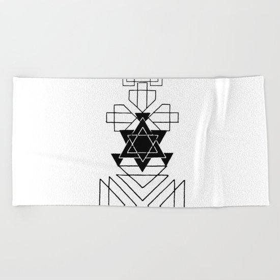 Minimal Geometry - Scandinavian art Beach Towel