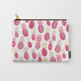 Pink Pineapple Watercolor Carry-All Pouch