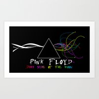 floyd Art Prints featuring Pink Floyd by sgrunfo