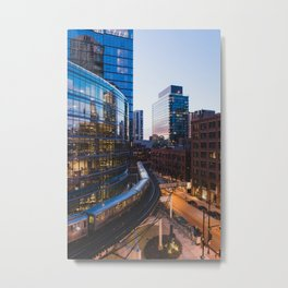 Brown Line at Dusk Metal Print