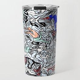 Retro Kamasutra LOVE Doodle  Travel Mug