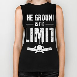 The Ground Is The Limit | Skydiving Design Biker Tank