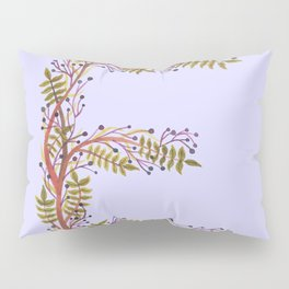 Leafy Letter E Pillow Sham