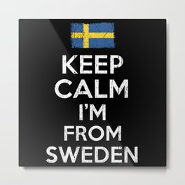 Keep Calm Sweden Metal Print