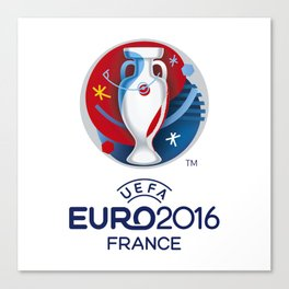 Logo Uefa Euro 2016 Canvas Print