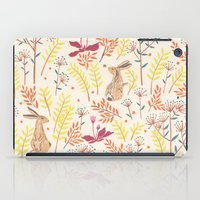 rabbits iPad Cases featuring rabbits field by Dao Linh