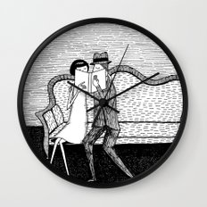 The Reading Lovers Wall Clock