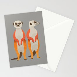 Whimsy Meerkats Stationery Cards