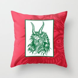 Here Comes Krampus! Throw Pillow