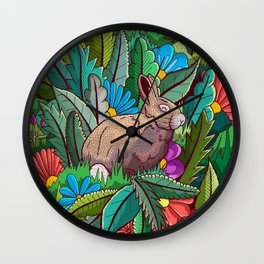 The rabbit of the woods Wall Clock