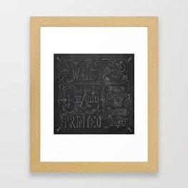 Julie's Chalkboard Framed Art Print