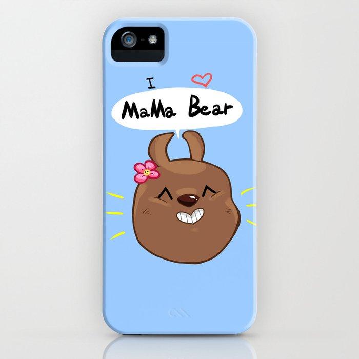 I heart Mama bear! iPhone Case
