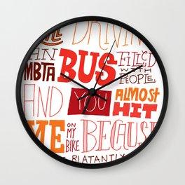 MBTA: Fun Fact! Wall Clock