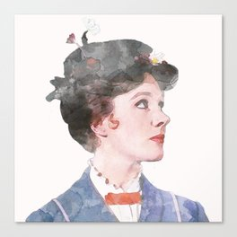 Mary Poppins - Watercolor Canvas Print