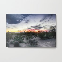 Tucson Mountain Sunset Metal Print