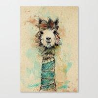 lama Canvas Prints featuring Lama by Anastasia Tayurskaya
