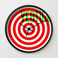 vertigo Wall Clocks featuring VERTIGO by Brian Walker