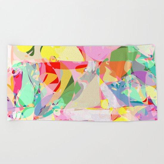 color splash Beach Towel
