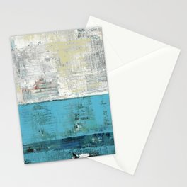 Fairbanks Abstract Light Blue White Stationery Cards