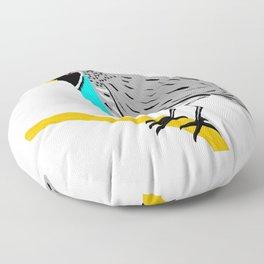 Quail On A Branch Floor Pillow