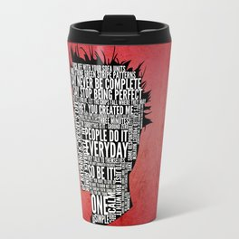 Typography Tyler Durden Uncensored Travel Mug