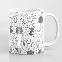 Daisy Grid on Side Coffee Mug