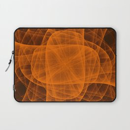 Eternal Rounded Cross in Orange Brown Laptop Sleeve
