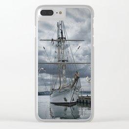 Schooner in Halifax Harbor Clear iPhone Case