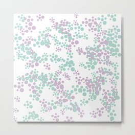 Mint and lavender color splash Metal Print