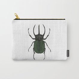 Atlas Beetle Insect Digital Watercolor Carry-All Pouch