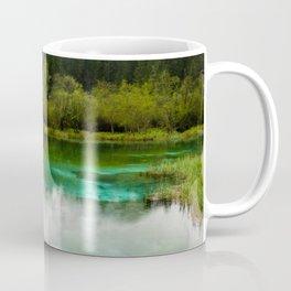 Stunning cloudy day at Zelenci springs, Slovenia Coffee Mug