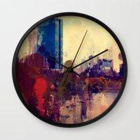 boston Wall Clocks featuring Boston  by Danielle DePalma