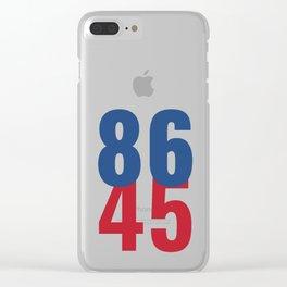 86 45 Anti Trump Impeachment T-Shirt / Politics Gift For Democrats, Liberals, Leftists, Feminists Clear iPhone Case