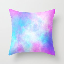 Colourful nebula Throw Pillow