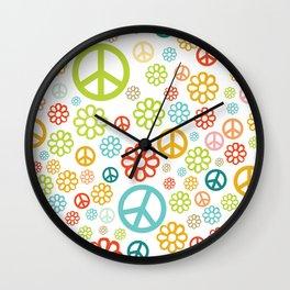 Retro Hippy Pattern Wall Clock