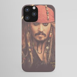 Jack Sparrow Digital Painting iPhone Case
