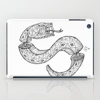 snake iPad Cases featuring SNAKE by JustJustin
