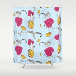 Madagascar bounce Shower Curtain
