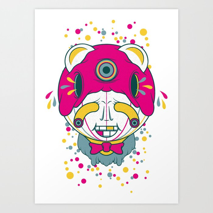 The Grinner Art Print