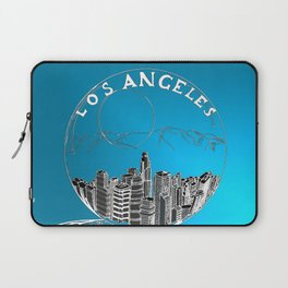 Los Angeles in a glass bowl on blue background Laptop Sleeve