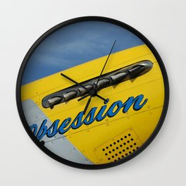 P51 Obsession Wall Clock