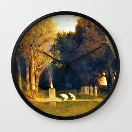 Sacred Grove - Arnold Bocklin Wall Clock