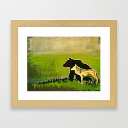 The Wolf and the Bear Framed Art Print