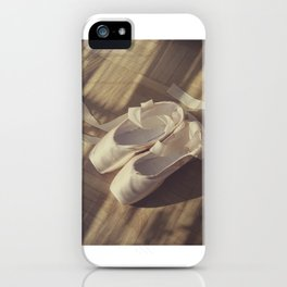 Ballet dance shoes iPhone Case
