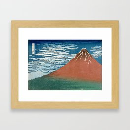 Fine Wind, Clear Weather (Gaifū kaisei) Framed Art Print