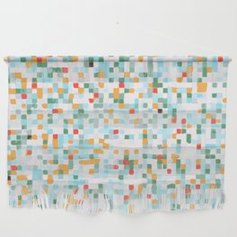 handmade coloured squares Wall Hanging