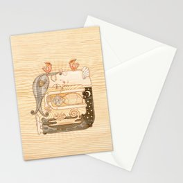 Sleeping Stationery Cards