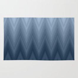 Blue Navy Chevron Ombre Rug