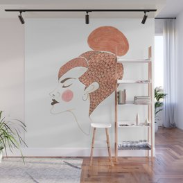 Woman with colours Wall Mural