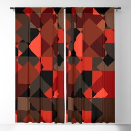 Peekaboo #3: abstract digital art - trendy modern colors from rectangles. Blackout Curtain